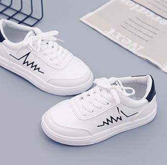Горячая распродажа - классическая повседневная обувь весна лето мужская женская повседневная обувь мода кожа на шнуровке квартиры обувь с коробкой