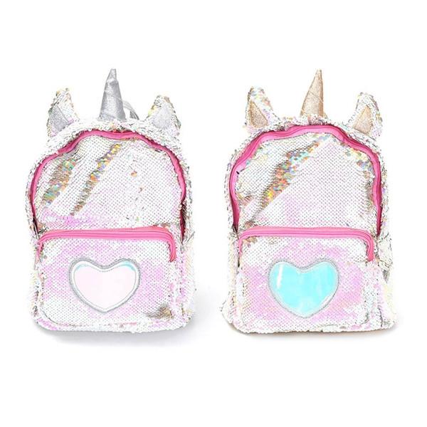 New Sequins Unicorn Backpack Women PU Leather Mini Travel Soft Bag Fashion SchoolBag For Teenager Student Girls Book Bag Satchel #274495