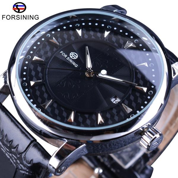 Forsining Mens Business Mechanical Watches Series Calendar Display Concealed Design Men Automatic Wrist Watch Luxury Male Clock SLZe46