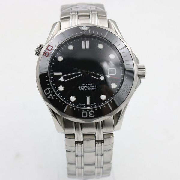 Luxus Professionelle 300 mt James Bond 007 Uhr Master Co-Axial Automatische Bewegung Edelstahl Leinwand Strap Sport Herrenuhren Armbanduhren