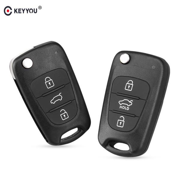Clé de voiture New 3 boutons Flip Shell à distance Shell pour Hyundai I30 IX35 Kia K2 K5 pliant à distance Key Case