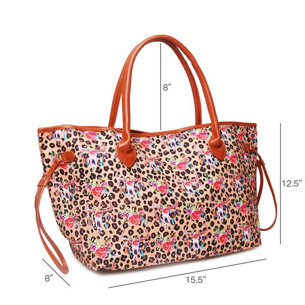 Leopar bullskull Omuz Çantası Kadınlar Alışveriş Çantası Çanta ile Tote Çanta Alışveriş Ve Plajı için kullanabilirsiniz