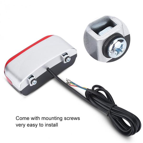 36V/48V Electric Bicycle Lights Waterproof Portable Mini Brake Bike Light Mount Tail Rear LED Tail Lights Safety Warning Signal