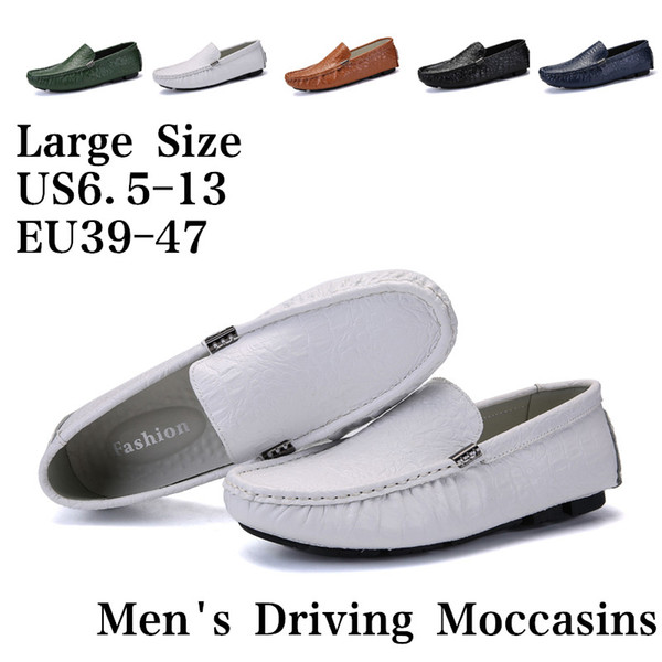 08428d74894 Mens Loafers Italian Dress Casual Loafers for Men Slip-on Driving Shoes  Genuine Leather Lightweight