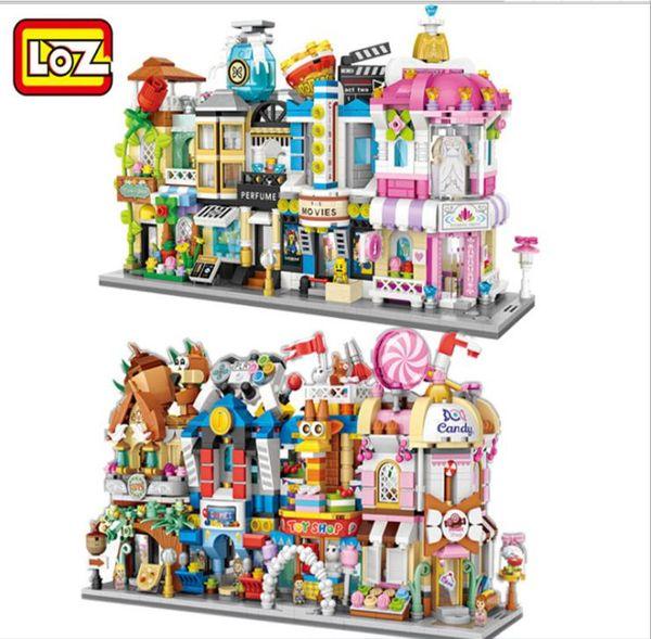 best selling LOZ MINI Blocks City Street View Scene Mini Building Blocks Coffee Shop Retail Store Architectures Models & Building Toy Quiz Christmas Toy