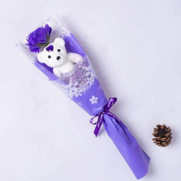 Медведь Мыло Одиночный Свадебный Цветок День Святого Валентина Подарок Букет Розы Цветы Подарок на День Учителя Цветы Гвоздики Для Оптовой Продажи