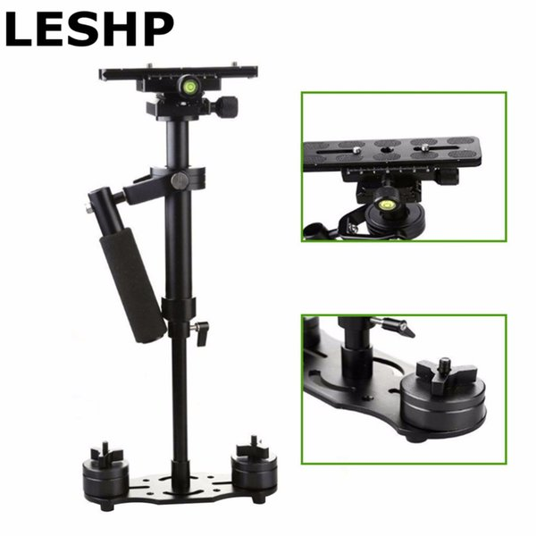 Freeshipping S40 S60 S80 Steadycam Scalable Carbon Fiber Handheld Stabilizer Steadicam for Canon Nikon Sony DSLR Camera Compact Camcorder