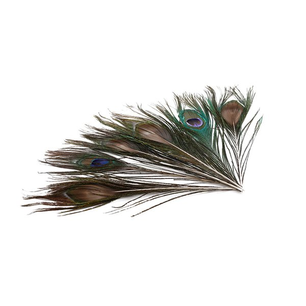 DIY Natural Peacock Feathers Makeup Tool Birthday Wedding Party Decoration Headmade Home Supplies Fashion 10-12 inch 100 pcs
