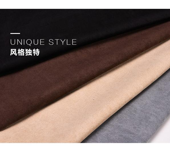 150CM*50CM Fake Suede Fabric Soft Polyester Faux Suede Cloth Black White coffee gray Khaki cheap Fabric Tissus Bazin Material