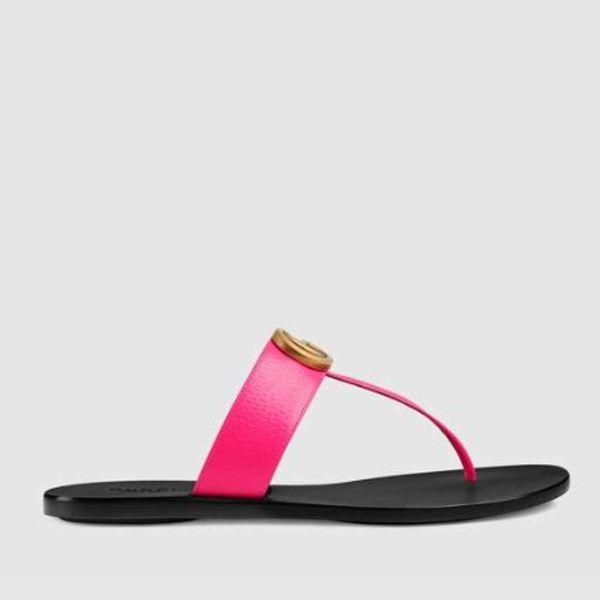2019 6 colores Europa Diseño de alta calidad Flip flop para mujer verano sandalias de goma antideslizantes ropa de moda zapatillas interiores zapatos 36-45