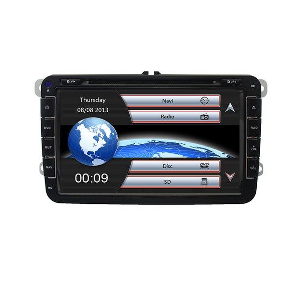 2 Din 7-дюймовый автомобильный DVD GPS стерео радио плеер для Volkswagen VW Golf 5 6 Touran Passat B6 B7 Sharan Джатта Skoda Seat Авторадио с картой