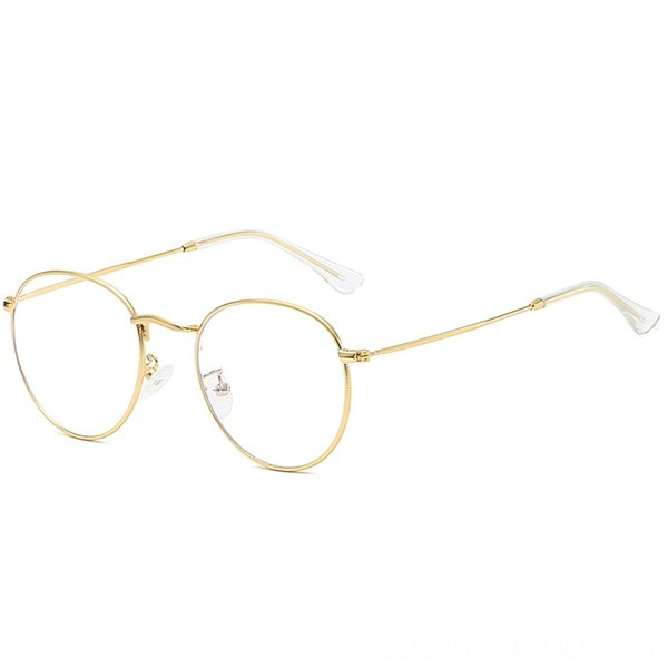Gold frame transparent white foot cover