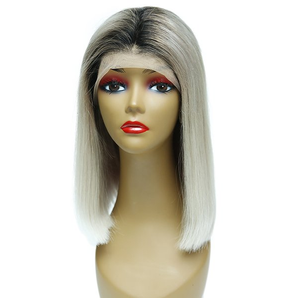 Chinese Remy Human Hair Lace Front Wigs 180% Density Natural Hairline Straight Lace Wig For American