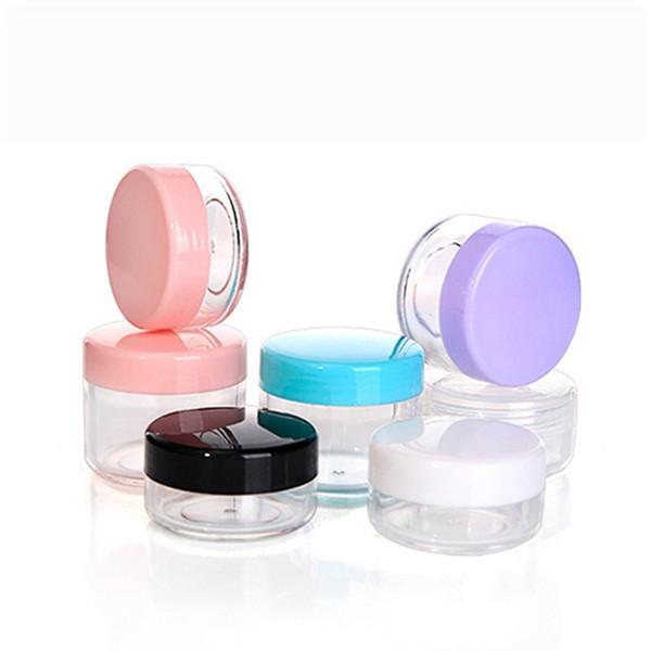 10g 15g 20g Envase de Cosméticos Vacío Frasco De Plástico Olla Sombra de ojos Maquillaje Crema Facial de Viaje Crema de Embalaje Cosmética Recargable