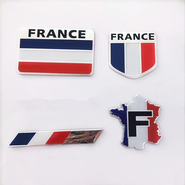 3D алюминиевого сплава Франция Флаг Герб Знак автомобиля стикер Авто Переводные картинки Мотоцикл Автомобильные аксессуары для Peugeot Citroen Renault