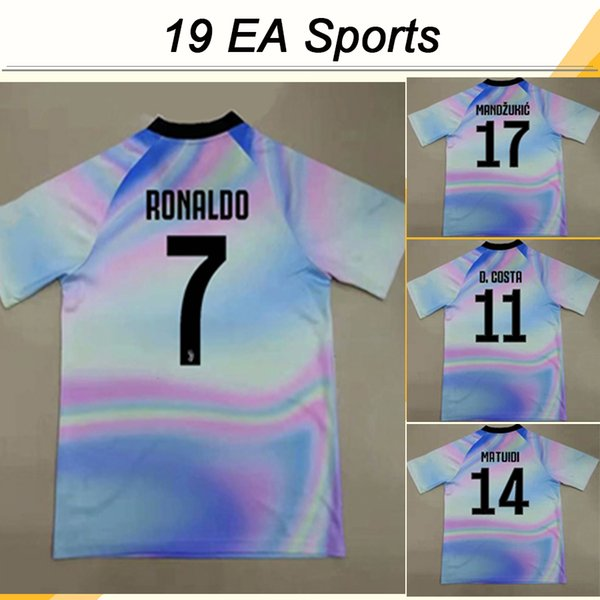 19 EA Sports RONALDO Special Soccer jerseys New DYBALA D.COSTA MARCHISIO MANDZUKIC Mens Game Edition Virtual Football Shirts Uniforms