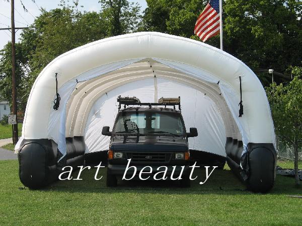 grande rimorchio gonfiabile dell'automobile del tunnel del tunnel della tenda gonfiabile bianca grande