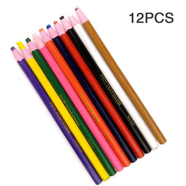 12pcs / set Point DIY Vêtements Multicolor Main Déchirer Pull Tissu De Coupe Pour Tailleurs Marqueur Stylo Crayons Crayons À Coudre À La Craie