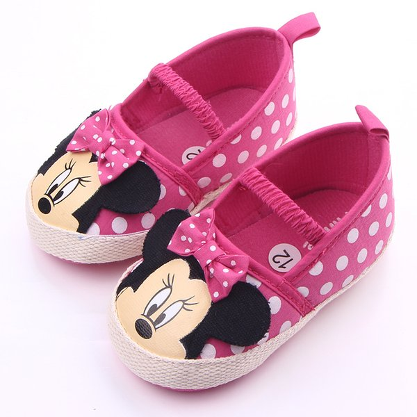 Cute Baby Girl Shoes Newborn Spring Summer Girl Baby Princess Shoes bowknot Polka Dot Flower Soft-Soled Crib