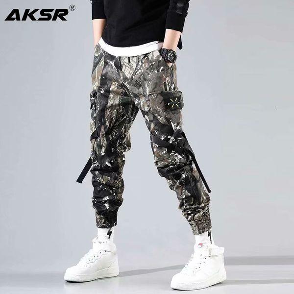 AKSR 2019 Men's Streetwear Pants Hip Hop Sweatpants Joggers Trousers Tactical Mens Pants Cargo Harem Pants Men pantalones hombre SH190915