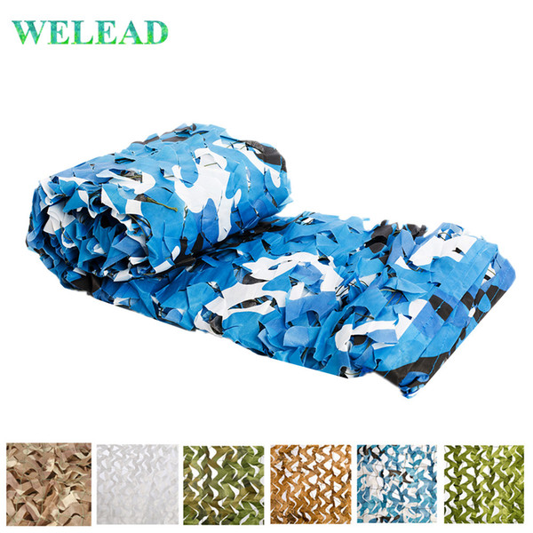 top popular WELEAD 2x6M Reinforced Concealment Mesh Hide Hunt Garden White Hunting Outdoor Awnings Camo Netting Toile 2*6 6*2 6x2 m 2021