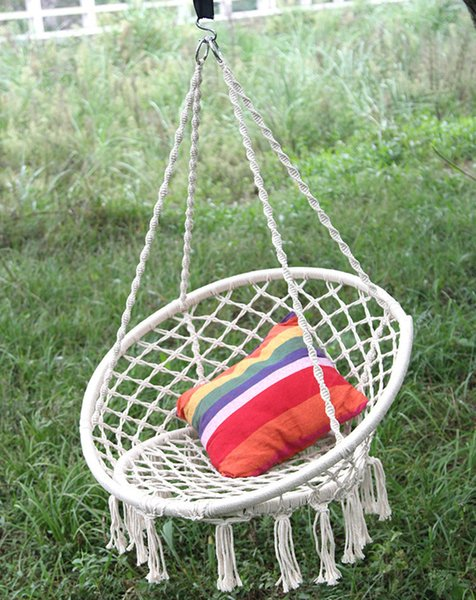 Remarkable 2019 2019 New Nordic Handmade Knitted Round Hanging Hammock Outdoor Indoor Dormitory Bedroom Baby Kids Hanging Chair Children Swing Home Decor From Creativecarmelina Interior Chair Design Creativecarmelinacom