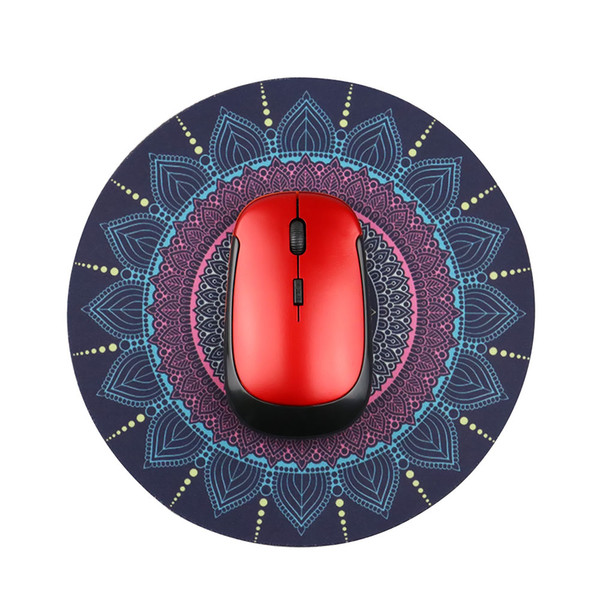 Computer & Office 1PCS Vintage Bohemian Round Computer 3D Game Carpet Mouse Pad Mat Anti Slip Mousepad