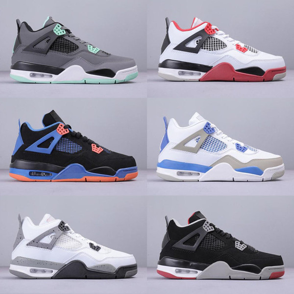 2019 Neuankömmling Bred Pale Citron Tattoo 4 IV 4s Männer Retro Basketball-Schuhe Was die Pizzeria Singles Day Royalty Mens Sports Sneakers