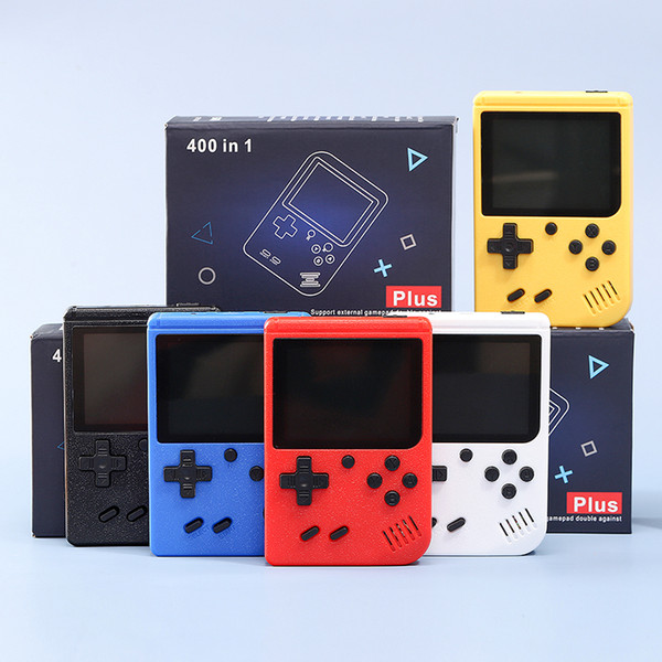 top popular Portable Handheld video Game Console Retro 8 bit Mini Game Players 400 Games 3 In 1 AV GAMES Pocket Gameboy Color LCD 2020