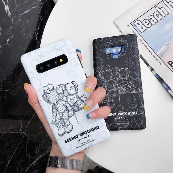 Cas de téléphone de concepteur en gros pour Samsung S8 S8 + S9 S9 + Note8 S9 S10 S10 + S10edge Couple Sesame Street tout inclus cas de téléphone givré
