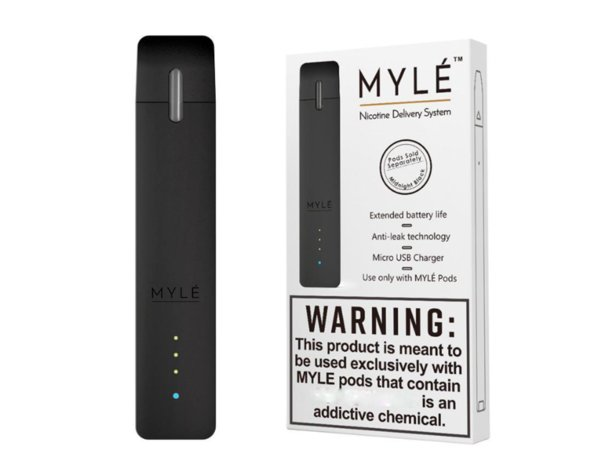 Myle Vape Device Kit 240mAh Rechargeable Battery With 7 Colors MYLE Vapor Nic Delivery ND System Basic Vaping Kit 240 Puffs Shipping Free