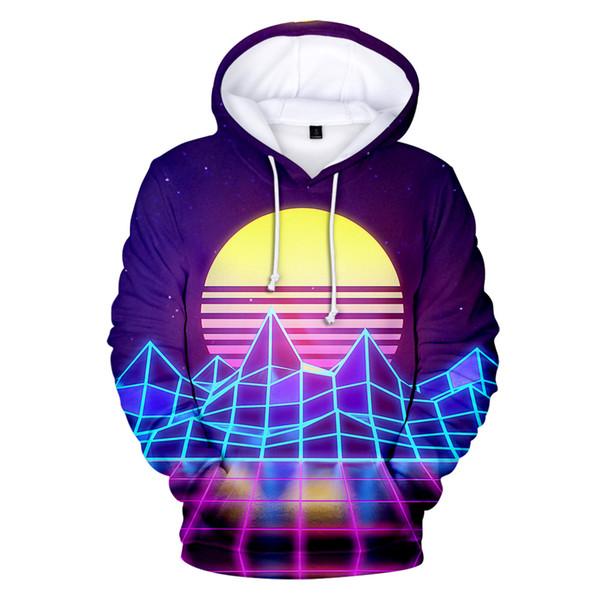 Vaporwave 3D Printed hoodie Spring/Autumn Tops men/women long Sleeve Casual Art Design hoodie popular top