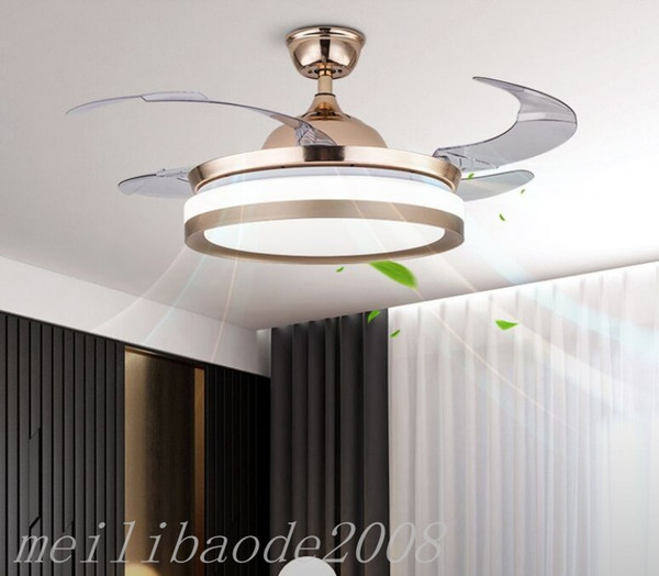 top popular Bluetooth audio music ceiling fan light 42 inch Ceiling Fans Lighting Remove Control Invisible Fan Home Led Lamps Lighting Ceiling Fans MYY 2021