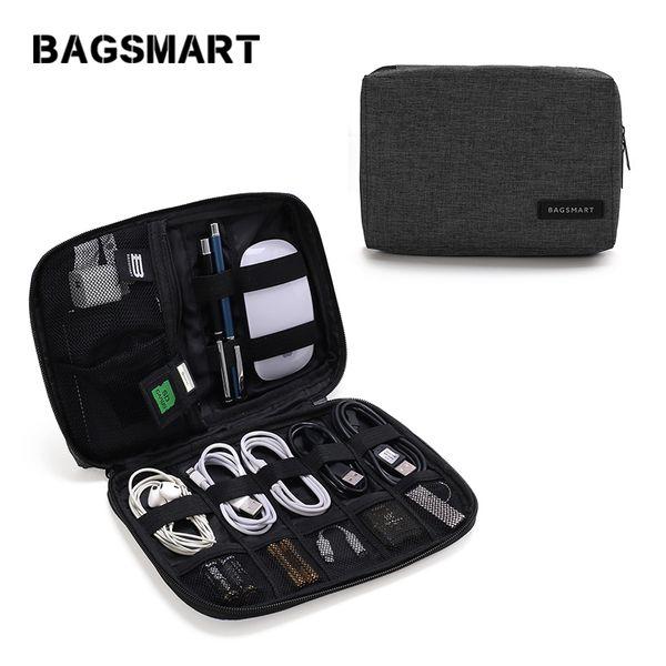 Bolsas de equipaje Bolsas BAGSMART Organizadores de viaje para línea de datos Tarjeta SD Cable USB Dispositivo digital Accesorios electrónicos Bolsa de viaje de nylon