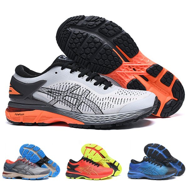 2019 Asics Gel Kayano25 Stable Running Shoes Men Women Black Red White Best Quality Designer Sneakers Sports Shoes 40--45