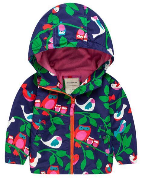New 2018 Fashion Children's Boys/Girls Fleece Jacket Windbreakers Cartoon Printed Hooded Jackets For Girls Coat Boys Outerwear