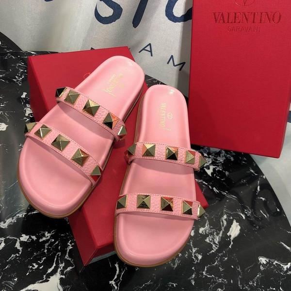 2019 мода роскошный дизайнер женская обувь тапочки старинные звезды дизайнер шлепанцы тапочки с размером коробки 35-40