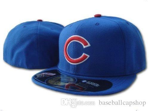 High Quality Wholesale Cubs Classic Team Royal Blue Color On Field Baseball Fitted Hats Fashion Hip Hop Sport cubs Full Closed Design Caps