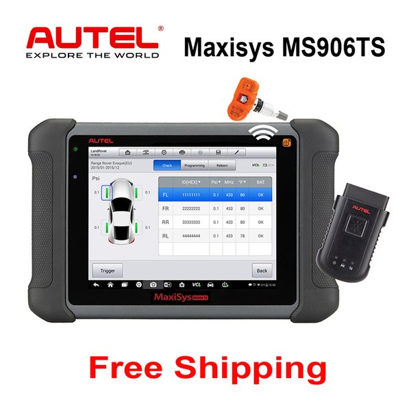 Original AUTEL MaxiSYS MS906TS Auto Obd2 Scanner Professional Diagnostic Tool With TPMS Function and Antenna Module System