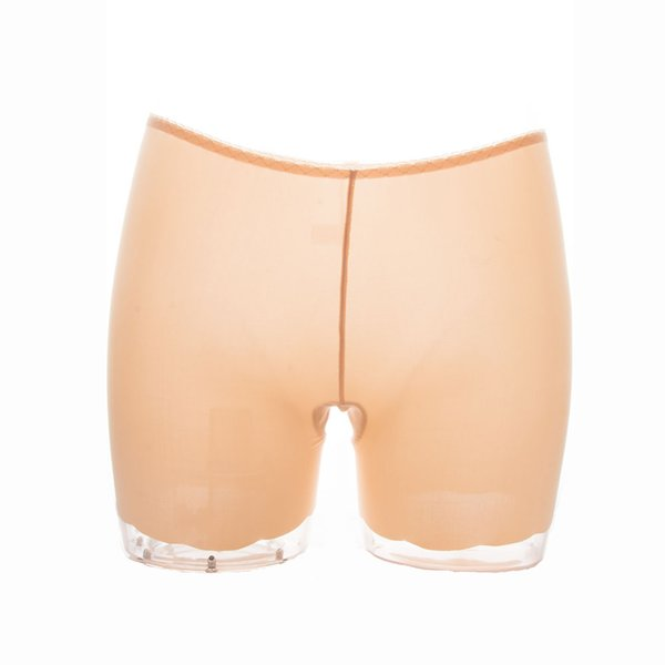 1PC Women Seamless Mid Waist Ice Silk Shorts Panties Traceless Invisible Breathable Safety Pants Black White Nude 3 Colors