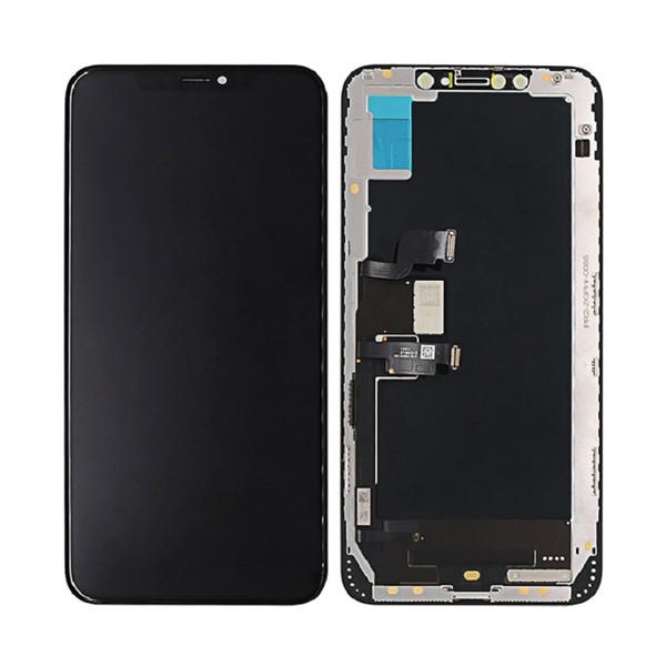 OLED per iPhone X XS XS Max LCD di ricambio Touch Screen Digitalizzatore Display LCD completo di assemblaggio Colore nero 5,8 pollici Spedizione DHL gratuita