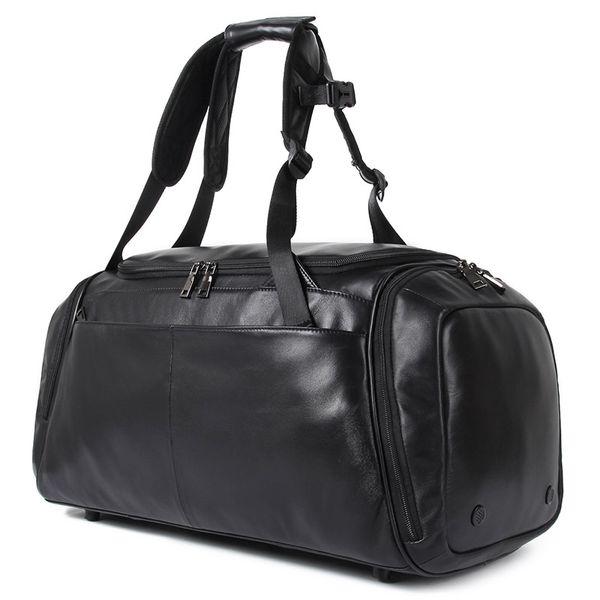 J.M.D Large Duffle Bag Men Weekend Genuine Leather Business Bag Men's Travel Popular Design Bagpack X-6010A