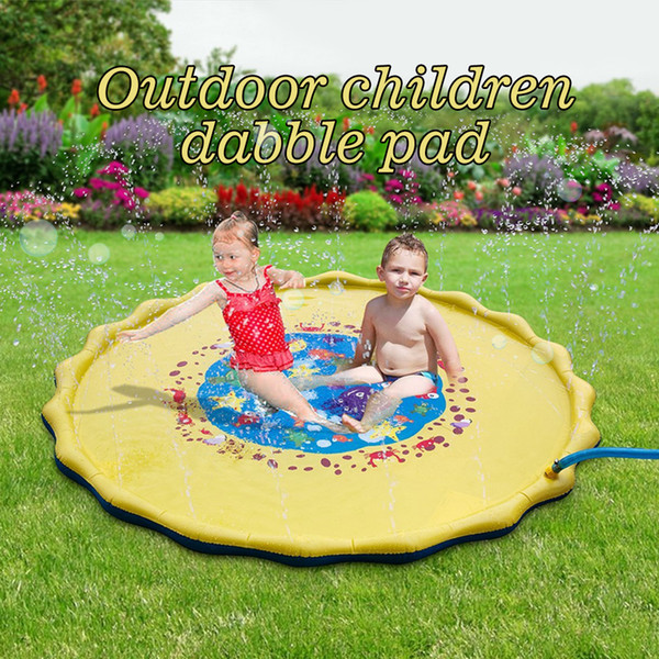 Play Mat For Outdoor Inflatable Sprinkler Water Fun Spray Mat Playing Pad for Kid Child Swimming Pool Toy for Babies and Toddlers 170cm