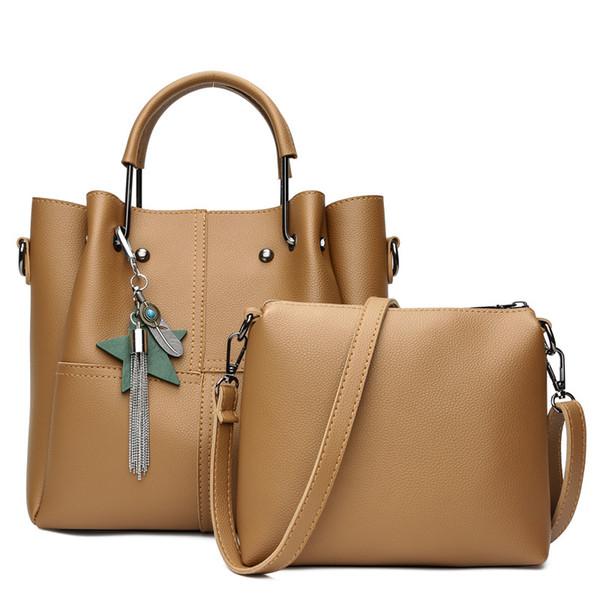 Neue weibliche Tasche Pentagram Anhänger gefüttert zweiteilige weibliche Nähte lässig tragen Damentasche