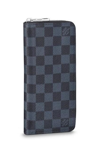 Zippy Wallet verticale N62240 degli uomini della cinghia Borse esotiche Borse in pelle Borse iconici Frizioni Portafoglio Portafogli borsa