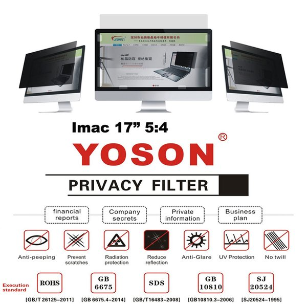 """17"""" Privacy Filter Screens Protective Film For Imac 5:4 Ratio 33.9*27.1cm"""