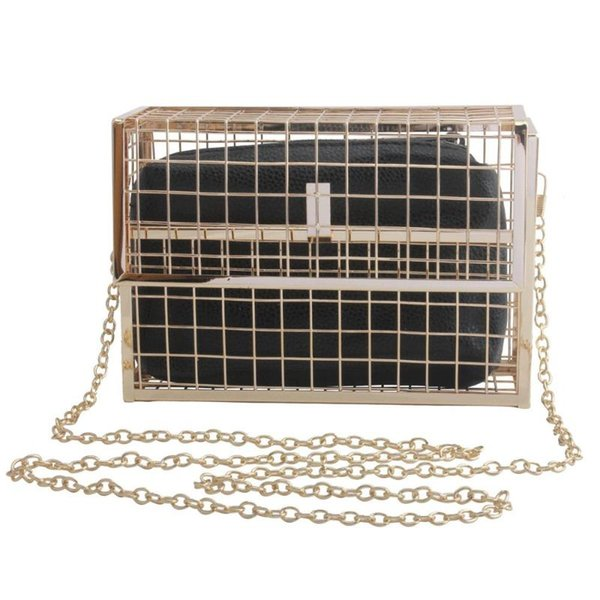 new style metallic hollow crossbody bags womens handbags and purses small handbag cage prom boutique pure color wallet 2pcs set