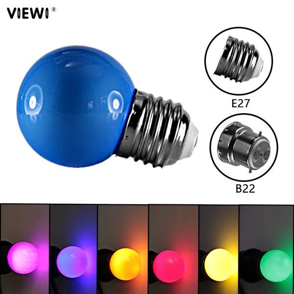 10pcs ampoule RGB led bulb E27 B22 12v 24v 110v 220v mini waterproof colorful small light 0.5W decoration energy saving lamp lighting