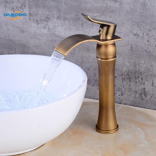 Vasca da bagno rubinetto in ottone bronzo antico rifinito rubinetto lavello miscelatore rubinetto vanità rubinetti del bagno di acqua fredda calda
