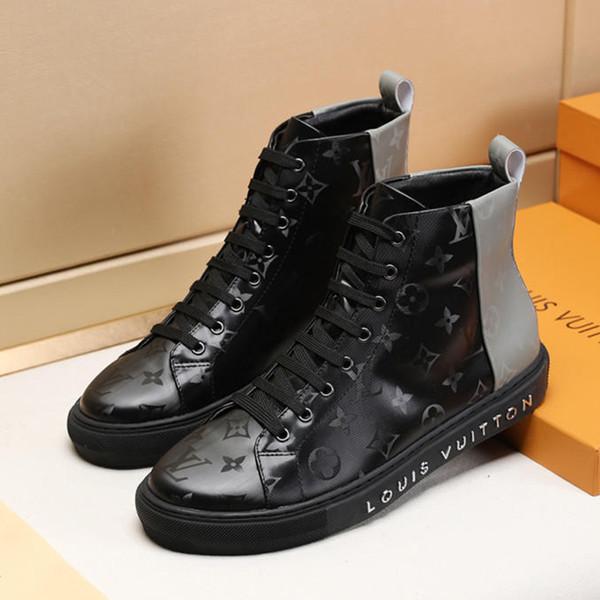 Mode Männer Schuhe Tattoo Sneaker Boot mit Original Box Plattform Herren Stiefeletten M # 22 Herren Schuhe Hohe Top Bottes Hommes Schnelles Schiff